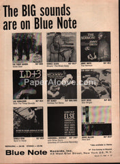 Blue Note Records Jazz Art Blakey Cannonball Adderley 1960 vintage print ad