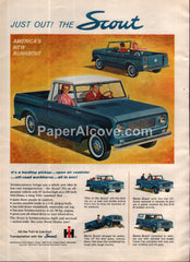 International Harvester Scout Truck 1961 vintage print ad