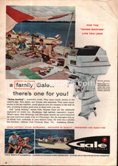 Gale Outboard Motors Sovereign 60 Buccaneer boat 1961 vintage print ad