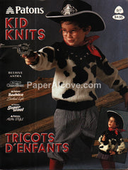 Kid Knits 1987 knitting Patons 517 children's clothing pattern book