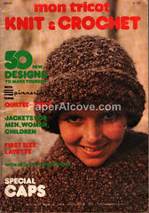 Mon Tricot Knit & Crochet MD28 January 1976 clothing pattern magazine