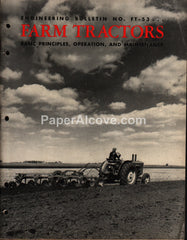 Standard Oil Farm Tractors Engineering Bulletin No. FT-53 1956 manual