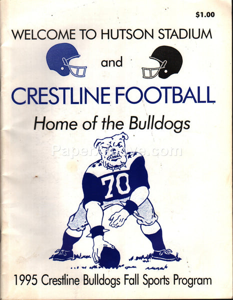 Crestline Bulldogs Ohio High School 1995 Fall Sports football program