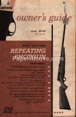 Hawthorne 1960 Model M-149 20 Gauge Bolt Action Repeating Shotgun Owner's Guide