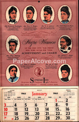 Negro Women Supreme Life Insurance Chicago 1965 unused advertising calendar