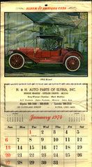 H&H Auto Parts of Elyria antique cars 1974 unused advertising calendar