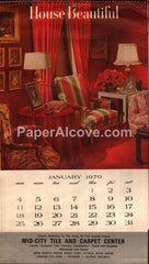 Mid-City Tile and Carpet Center Elyria 1970 unused advertising calendar