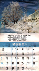 Harold Horace & Sons Painting Elyria 1974 unused advertising calendar