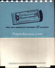 American Express 1966 unused advertising calendar