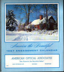 American Optical Associates Whittier 1967 unused advertising calendar
