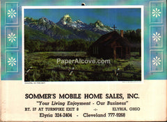 Sommer's Mobile Home Sales Elyria Ohio 1975 unused advertising calendar