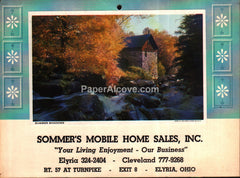 Sommer's Mobile Home Sales Elyria Ohio 1972 unused advertising calendar