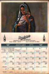 Brookdale Beverage Bloomfield NJ 1974 unused advertising calendar soda