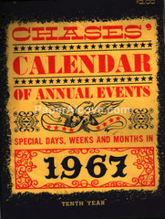 Chases' Calendar of Annual Events 1967 unused advertising calendar