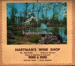 Hartman's Wine Shop Elyria Ohio Calendar 1966 unused advertising calendar