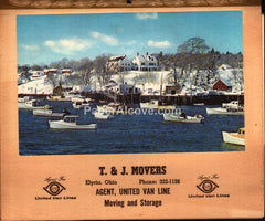 T & J Movers United Van Lines Elyria Ohio Calendar 1971 unused advertising calendar