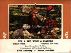 Tee & Tee Wine & Liquors Warwick NY Calendar 1975 unused advertising calendar hunting