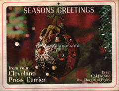 The Cleveland Press newspaper 1973 unused advertising calendar