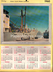 The Cleveland Press newspaper 1960 unused advertising calendar