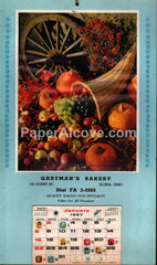 Gartman's Bakery Elyria Ohio 1967 unused advertising calendar