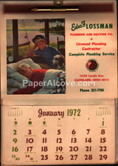 Edw. F. Lossman Plumbing Heating Ohio 1972 unused advertising calendar