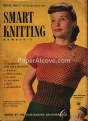 Smart Knitting #1 1946-1947 pattern magazine