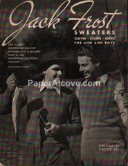 Jack Frost Sweaters 1944 crochet knitting gloves scarfs socks men boys pattern book #45 fishing golf