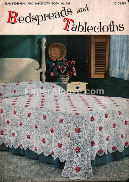 Bedspreads and Tablecloths 1950s crochet pattern book Star #109