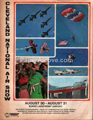 Cleveland National Air Show 1975 Program Burke Lakefront Airport