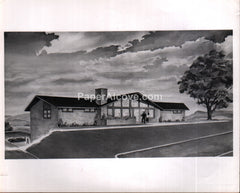 Vintage photograph of a Howard Summers 1965 architectural home illustration