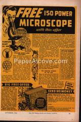 Free 150 Power Microscope Metro Publications 1943 vintage print ad
