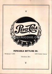 Pepsi-Cola Bottling Co. Cleveland Ohio 1956 vintage print ad