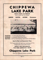 Chippewa Lake Park amusement dancehall boating Ohio 1956 vintage print ad