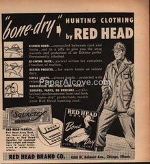 Red Head Brand Hunting Clothing  1952 vintage print ad
