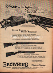 Browning Superposed O/U shotgun automatic Belgium 1952 vintage print ad