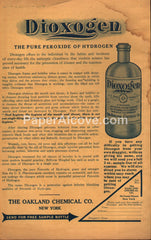 Dioxogen Hydrogen Peroxide Bottle Oakland Chemical Co. 1909 vintage print ad