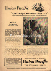 Union Pacific Railroad Bryce Canyon 1929 vintage print ad