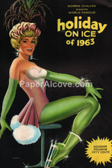 Holiday on Ice of 1963 18th Edition vintage souvenir program ice skating Bomar good girl pin up art