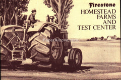 Firestone Tires Homestead Farms and Test Center 1960s brochure tractors