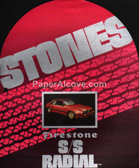 Firestone S/S Radial Tires 1980s brochure Ford Mustang