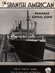 Grace Line The Spanish American Daily Radio News newsletter 1939 Panama Canal Zone