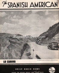 Grace Line The Spanish American Daily Radio News newsletter 1939 La Guaira Venezuela