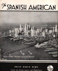 Grace Line The Spanish American Daily Radio News newsletter 1939 New York