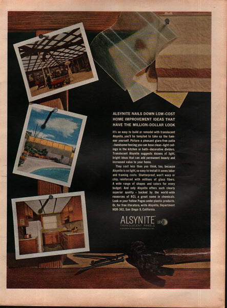 1963 Alsynite Translucent Panels Reichhold Chemicals Inc. vintage print ad
