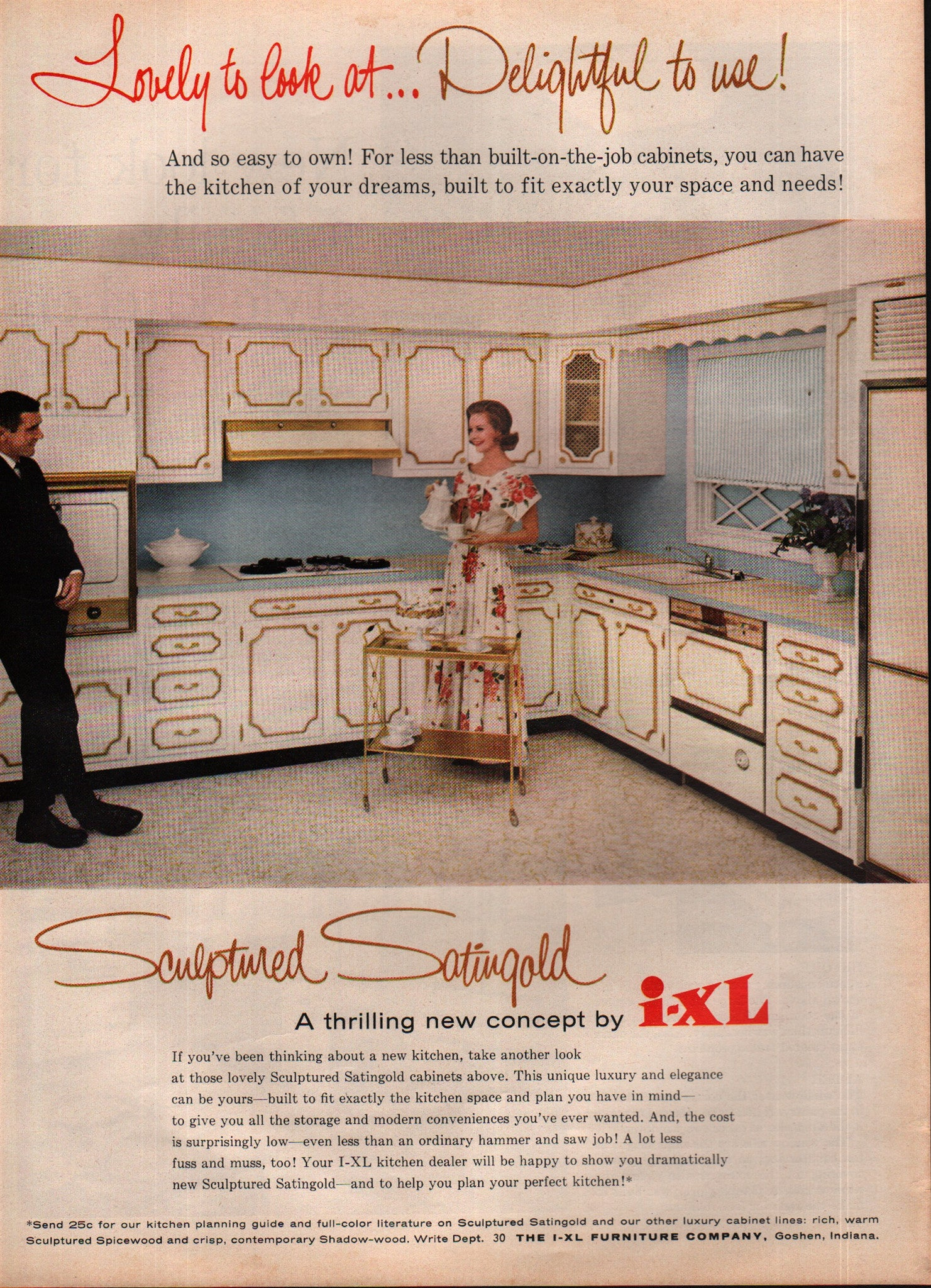 1963 I Xl Furniture Co Kitchen Cabinets Goshen In Vintage Print Ad