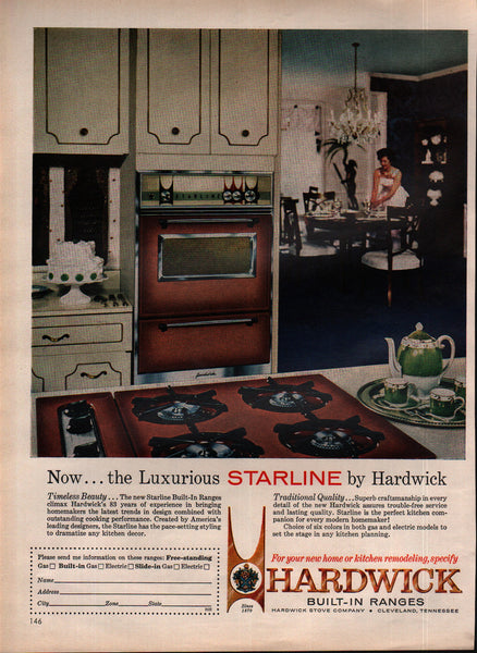 1963 Hardwick Stove Co Built-In Ranges Cleveland TN vintage print ad