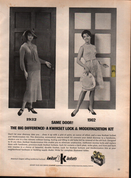 1963 Kwikset Sales & Service Co Locks vintage print ad