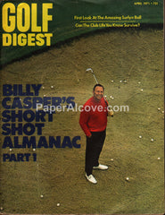 Golf Digest April 1971 vintage magazine Billy Casper cover