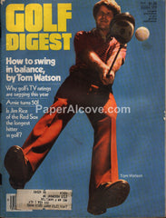 Golf Digest October 1979 vintage magazine Tom Watson cover