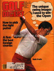 Golf Digest September 1979 vintage magazine Hale Irwin cover